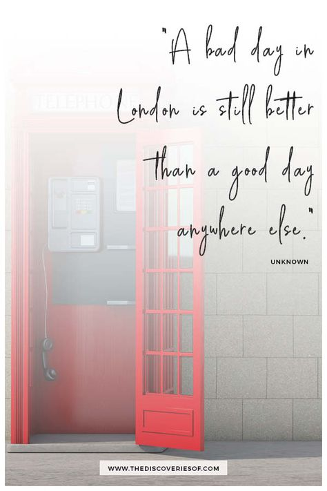 Looking for a few London quotes to brighten your day? Look no further than these 43 scathingly funny, absolutely brilliant and very British quotes about London. Lols guaranteed! #quotes #travelquotes #london #england London quotes I travel quotes I funny quotes