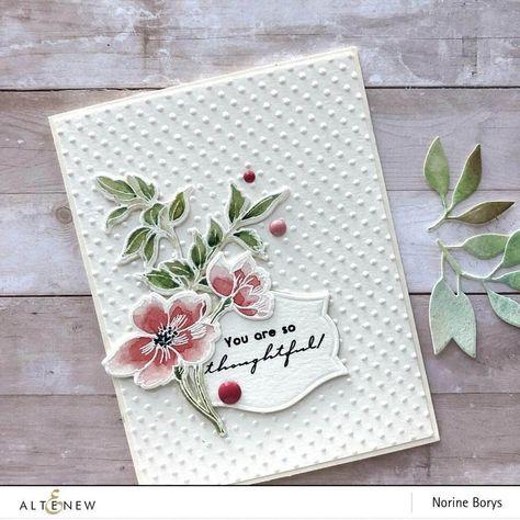 Watercolor Rose, Watercolor Cards, Watercolor Paintings, Pen Sketch, Card Sketches, Painted Leaves, Flower Cards, Flower Stamp, Embossing Folder