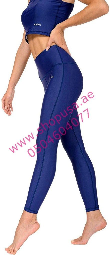 Compression Tummy Control Pants for Workout and Running AVVA High Waist Yoga Leggings for Women