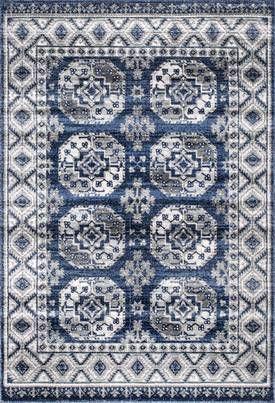 Rugs Usa Blue Primavera Gothic Vintage Rug Transitional
