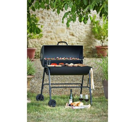 Charcoal Oil Drum Bbq Cover Utensils Adjustable Grill