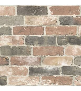 Wallpops Nuwallpaper Peel Stick Wallpaper Cream Grassweave Joann Nuwallpaper Brick Wallpaper Rustic Wallpaper