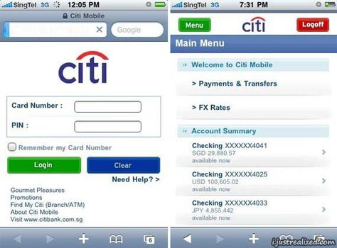 Citibank Secure Login >> Pinterest