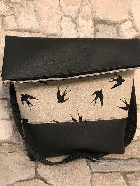 FoldOver Tasche, Schultertasche, Filz von Kleine Wollbude