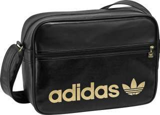ADIDAS AC AIRLINE MESSENGER TASCHE BAG SCHWARZ GOLD NEU in