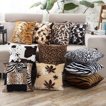 Pin By Hyuijuiop On Wes Plush Throw Pillows Leopard Print Pillows Printed Cushions