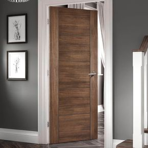 Laminate Vancouver Walnut Door Is 1 2 Hour Fire Rated And Prefinished Lifestyle Image Walnutlaminatedoor Moderndoor Walnut Doors Fire Doors Laminate Doors