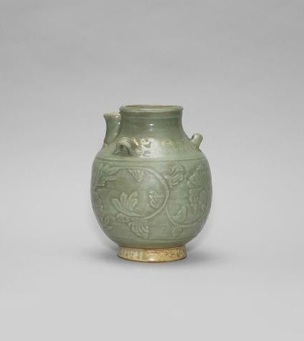 An Unusual Celadon Handled Jar Ming Dynasty Ming Dynasty