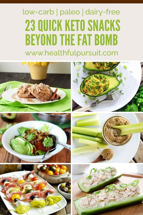 23 Quick Keto Snacks beyond The Fat Bomb (paleo, low-carb + dairy-free)Really nice recipes. Every hour. Show me what you cooked!