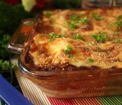 Mary Berry's meat lasagna...the best lasagna recipe where I come from.