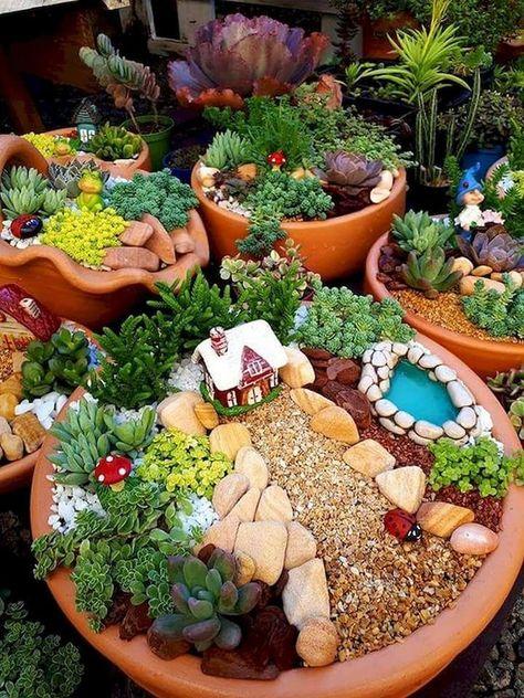 Como Hacer Un Jardin En Miniatura Macetas De Jardin De Madera