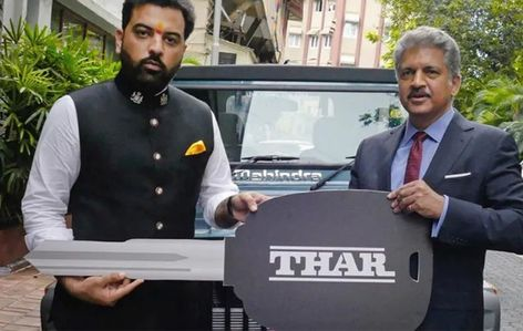 Anand Mahindra gifts rare Thar 700 to Udaipur prince: The highlight of the Thar 700 will be a special badge on the vehicle… #news #headlines