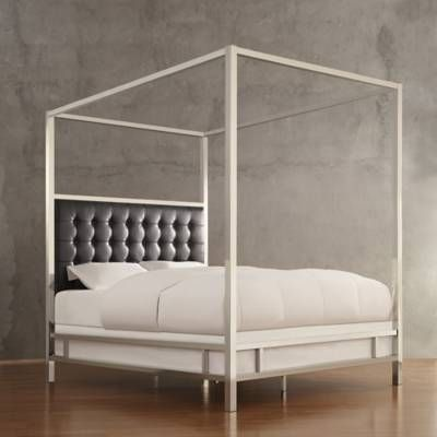 Verona Home Indio Chrome Framed Canopy Bed Bed Bath Beyond