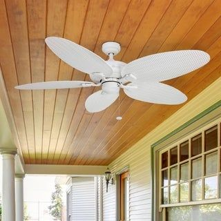 Honeywell Duvall Tropical Ceiling Fan Five Wet Rated Wicker