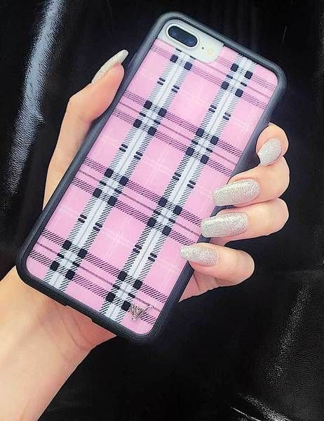 best service c9d32 1ca60 Pink Plaid iPhone 6/7/8 Case in 2019 | Wildflower Case Aesthetic ...