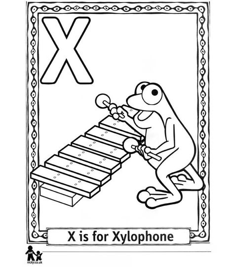 X Is For Xylophone Coloring Page Coloring Pages Inspirational Coloring Pages Alphabet Coloring Pages