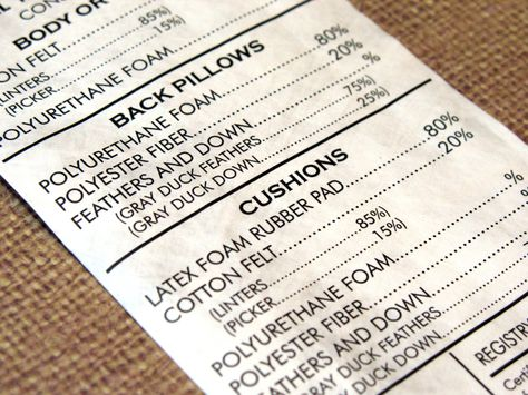 Tyvek Labels for Furniture