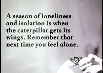 A Season Of Loneliness And Isolation Is When The Caterpillar Get Its Wings Quote Humanity Quotes Lonliness Quotes Loneliness Quotes