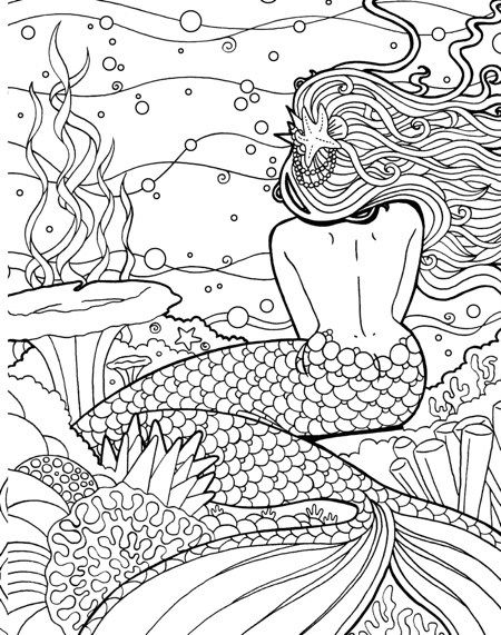 Hottest New Coloring Books March 2018 Roundup Mermaid Coloring Book Mermaid Coloring Pages Mermaid Coloring