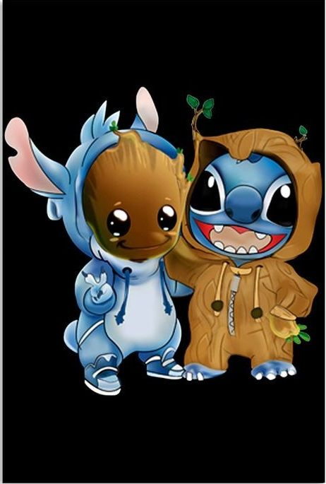 Stitch And Baby Groot Cosplay As Each Other Lilo And Stitch