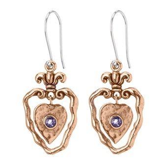 Heart Of Grace Earrings Heart Shaped Earrings Silver Heart Earrings