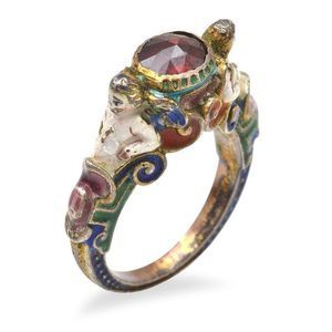 An antique Renaissance revival enamel and garnet ring, of… - Rings - Jewellery Piercings, Cute Jewelry, Jewelry Accessories, Hippie Jewelry, Nagel Tattoo, Antique Jewelry, Vintage Jewelry, Antique Rings, Et Tattoo