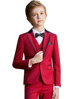 ELPA ELPA Boys Teen Suits Childrens Wool Winter Slim Fit Suit 6 Pieces for Holiday Performance