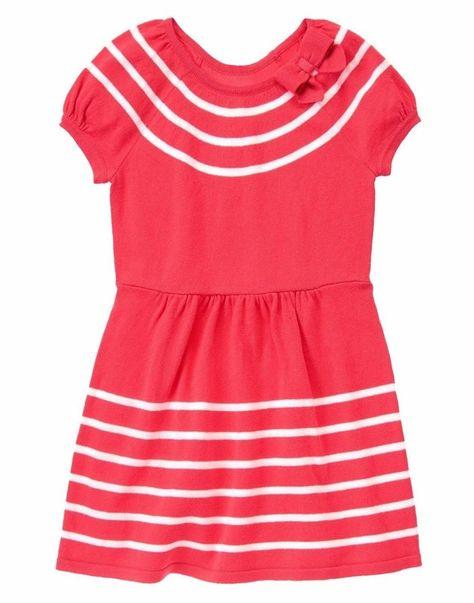 Bonnie Jean Girls Red Geo Long Sleeve Dress Size 3-6M//6-9M//18M//24M//4//5//6