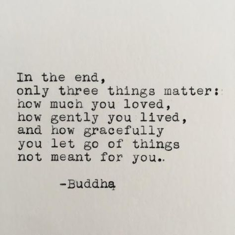 In the end, only three things matter: how much you loved, how gently you lived, and how gracefully you let go of things not meant for you. Buddha ------- Ive loved vintage typewriters since the first time I set eyes on one. With this piece, I have the opportunity to share that feeling with you!