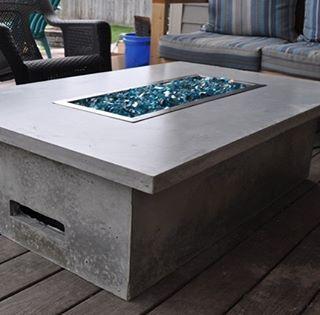Feuertisch Selber Bauen Perfekt Fur Die Terrasse Diy Beton Interiordesign Design Mobel Garten Love Awes Feuertisch Gas Feuerstelle Feuerstellen Tisch