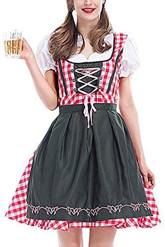Ladies Beer Maid Wench Authentic Black German Dirndl Oktoberfest Costume Cosplay