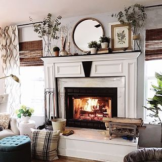 This Is Where You Can Find Me This Weekend We Didn T Get The Snow They Predicted But We Got The Cold Winter Fireplace Decor Winter Fireplace Fireplace Decor