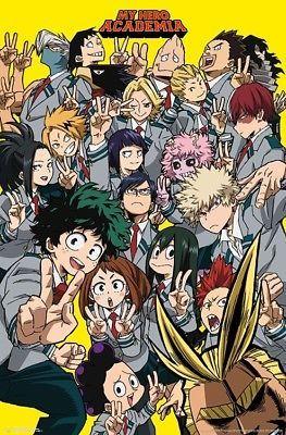 My Hero Academia Selfie Character Collage Poster 22x34 16406 Hero Wallpaper Anime Hero Academia Season 2