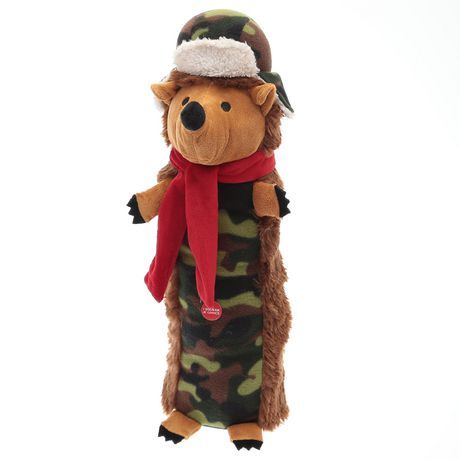 Vendor Brand Elect Holiday Time Large Squeaky Stuffed Dog Toy Camo