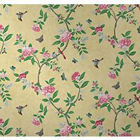 V A Chinoiserie Wallpaper Imperial Yellow