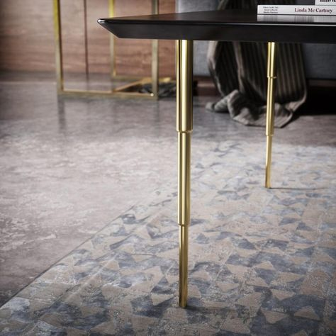 16 Tapered Legs Brass Table Legs 12 16 Bench Legs Gold