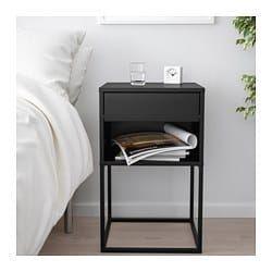 Vikhammer Nachttisch Schwarz 40x39 Cm Ikea Future Home
