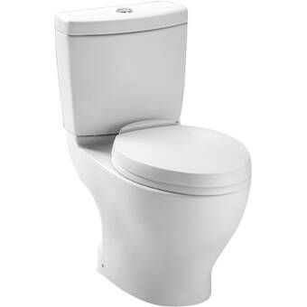 Aquia Dual Flush Elongated Two Piece Toilet Seat Not Included Reviews Allmodern With Images Dual Flush Toilet Toilet Toilet Seat
