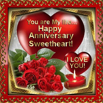 happy anniversary sweetheart to you from me