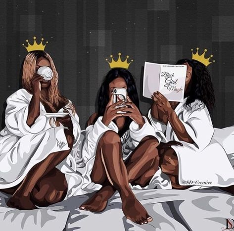 African american women, Melanin queens, art print – Fashion Ideas And Suggestions