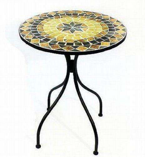 Tisch Mosaik Gartentisch Rund Durchmesser 60 Cm Gartentisch Mosaik Gartentisch Tisch