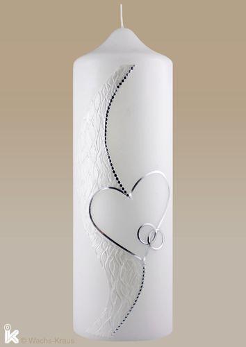 Kerze Hochzeit Besonders Feines Silber Weiss Candles Wedding