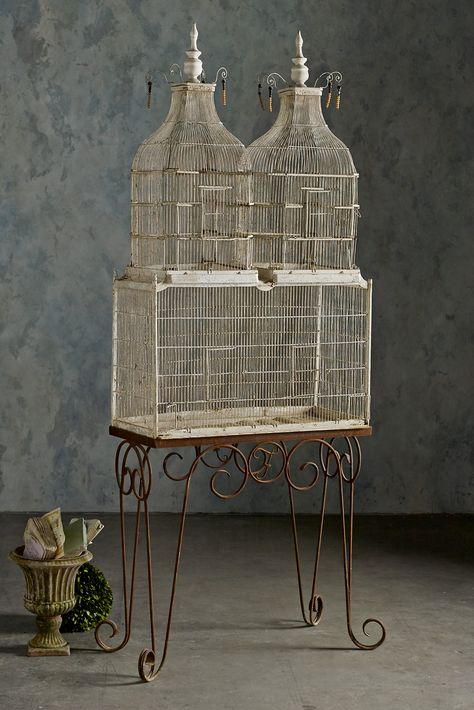 Voliere - A handsome french birdcage circa 1900 | Soft Surroundings