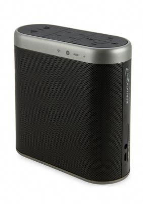 Ilive Black Wifi Speaker With Rechargeable Battery Black Wifi Speakers Rechargeable Batteries Wireless Speakers Portable