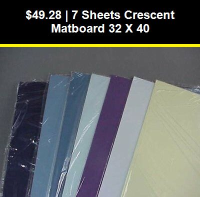 Framing And Matting 37573 7 Sheets Crescent Matboard 32 X 40 Buy It Now Only 49 28 On Ebay Framing Matting Sheets Cr Matboard Picture On Wood Sheets
