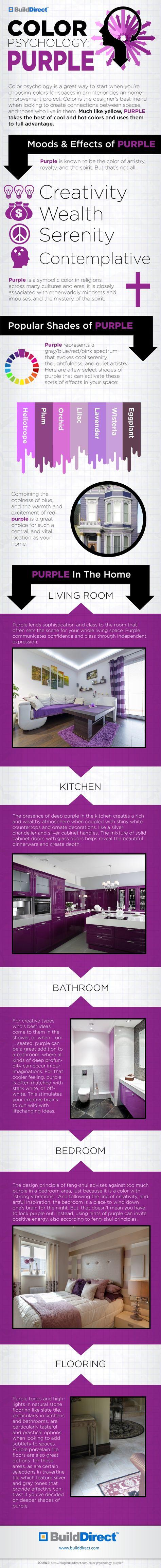 Color Psychology Purple copy Emotional Interior Design: Using Purple. My eldest loves purple.