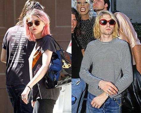 Frances Bean Cobain looks like her Dad Kurt Cobain