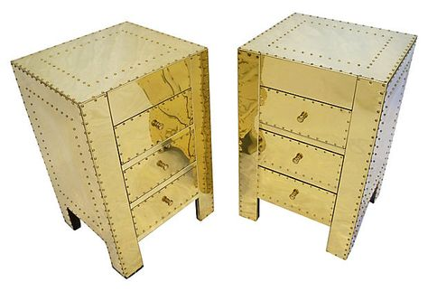 Brass Side Tables, Pair on OneKingsLane.com
