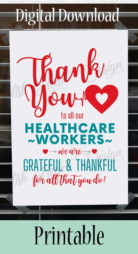 Health care worker signs