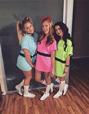 Trio Halloween Costume Ideas For Three Friends.Group Halloween Costume Ideas Halloween Powerpuff Girls